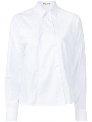 Поплиновая рубашка Nehera. Цвет: белый