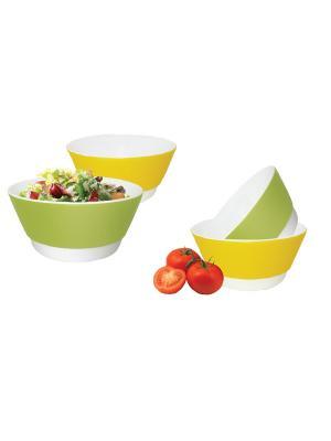 Набор стильных чашек длябульона 450 мл. 4 шт. BS 02100 Barton Steel. Цвет: светло-зеленый, красный