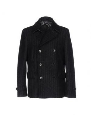 Пальто MANUEL RITZ. Цвет: темно-синий