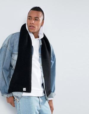 7X Классический шарф. Цвет: черный