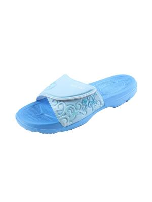 Шлепанцы Mon Ami. Цвет: светло-голубой