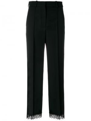 Укороченные брюки с бисерной отделкой Racil. Цвет: чёрный