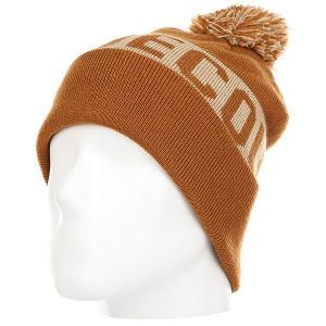 Шапка детская DC Chester Hats Leather Brown Shoes. Цвет: светло-коричневый