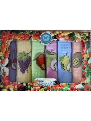 Набор кухонных полотенец в подарочной коробке Diva Afrodita. Цвет: голубой, розовый