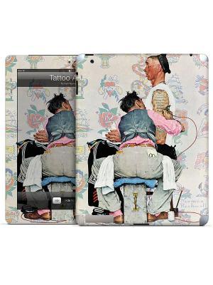 Наклейка для iPad 2,3,4 Tattoo Artist-Norman Rockwell Gelaskins. Цвет: серо-зеленый, розовый, черный