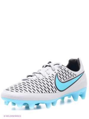 Бутсы MAGISTA ORDEN FG Nike. Цвет: серый, бирюзовый