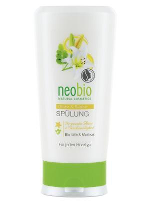 Кондиционер для восстановления и блеска волос с био-лилией морингой Neobio. Цвет: светло-желтый