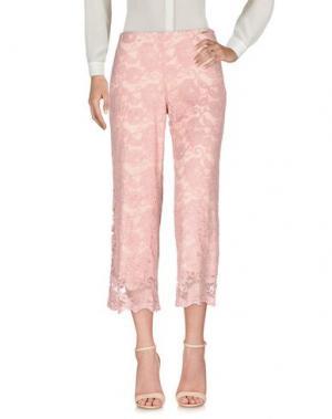 Повседневные брюки CARLA MONTANARINI. Цвет: пастельно-розовый
