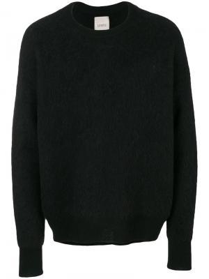 Классический трикотажный свитер Laneus. Цвет: чёрный