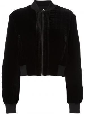 Куртка-бомбер Torrisimo Marcelo Burlon County Of Milan. Цвет: чёрный