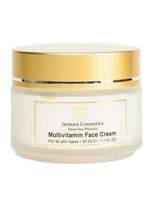 Крем для лица мультивитаминный с маслом макадамии Debora Cosmetics. Цвет: бежевый