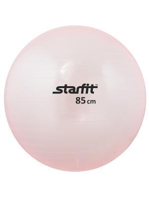 Мяч гимнастический STARFIT GB-105 85 см, прозрачный, розовый. Цвет: розовый