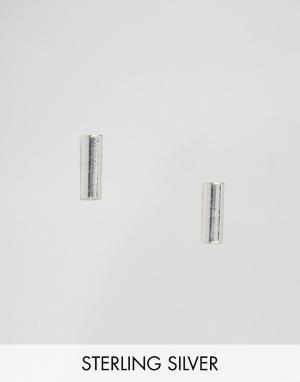 Fashionology Серебряные серьги-пластинки. Цвет: серебряный