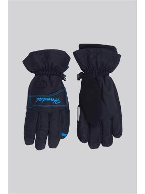 Перчатки OKWAY. Цвет: синий
