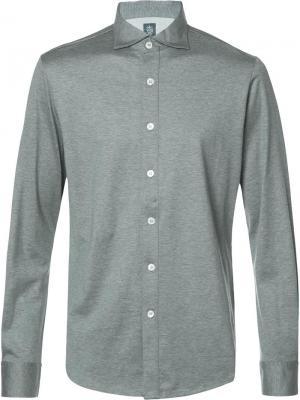 Классическая рубашка Eleventy. Цвет: серый