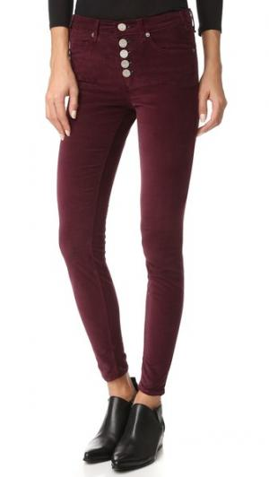 Узкие брюки Newton с гульфиком на пуговицах McGuire Denim. Цвет: винный