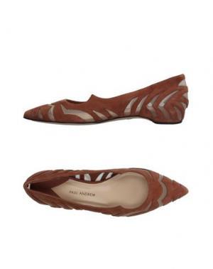 Балетки PAUL ANDREW. Цвет: коричневый