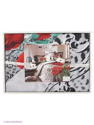 Комплект постельного белья Мерседес Sofi de Marko. Цвет: светло-серый, красный, черный