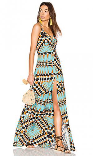 Платье-макси с открытой спиной Lenny Niemeyer. Цвет: синий
