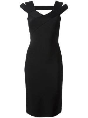 Приталенное платье с лямками на плечах Roland Mouret. Цвет: чёрный