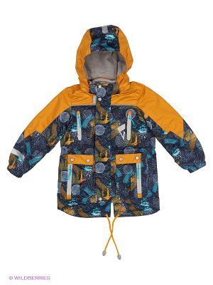 Куртка Oldos. Цвет: темно-синий, золотистый