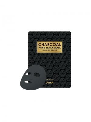 Черная маска с древесным углем для очищения и увлажнения D RAN. Цвет: прозрачный