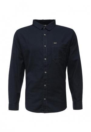 Рубашка Jack Wolfskin. Цвет: синий