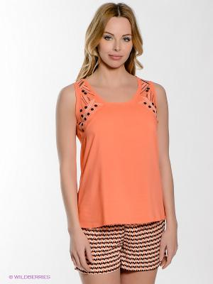 Пижама PENYE MOOD. Цвет: светло-оранжевый, черный