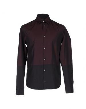 Pубашка COSTUME NATIONAL HOMME. Цвет: красно-коричневый