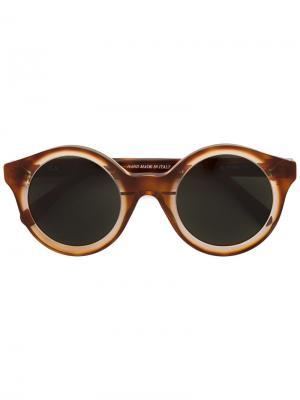 Солнцезащитные очки Isa Kyme. Цвет: жёлтый и оранжевый