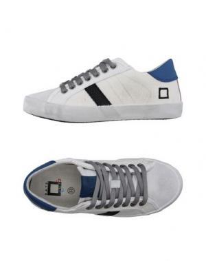 Низкие кеды и кроссовки D.A.T.E. KIDS. Цвет: светло-серый