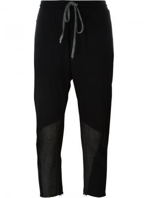 Укороченные брюки с заниженной шаговой линией Lost & Found Rooms. Цвет: чёрный