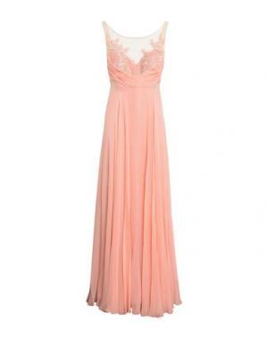 Длинное платье MARCHESA NOTTE. Цвет: лососево-розовый