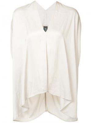 Драпированная блуза шифт Zero + Maria Cornejo. Цвет: телесный