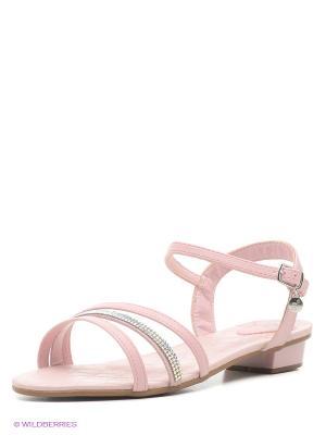 Босоножки Bibi. Цвет: бледно-розовый