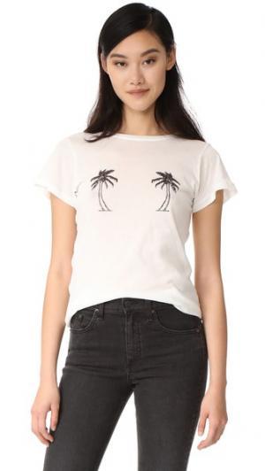 Футболка Palm Trees A Fine Line. Цвет: белый