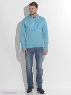Худи EMDI. Цвет: голубой