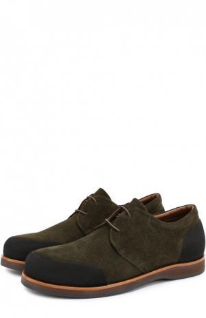 Замшевые ботинки с резиновым мысом и задником Zonkey Boot. Цвет: темно-зеленый