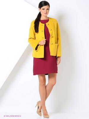 Пальто Gamelia. Цвет: горчичный, светло-оранжевый
