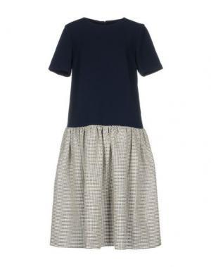 Платье до колена EDIT. Цвет: темно-синий