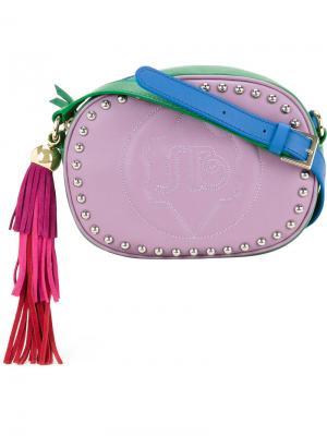 Сумка через плечо с заклепками Sara Battaglia. Цвет: розовый и фиолетовый