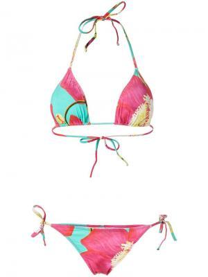 Floral print bikini set Isolda. Цвет: синий