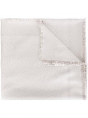 Жаккардовый платок Fendi. Цвет: телесный