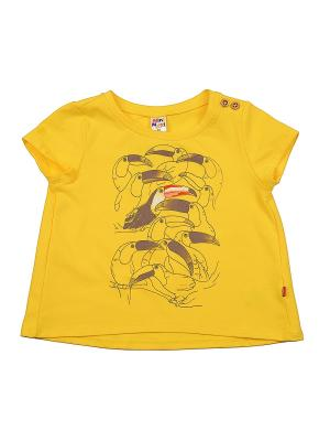 Футболка Mini Maxi. Цвет: желтый
