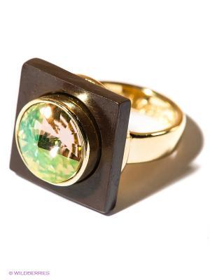 Кольцо Jenavi. Цвет: золотистый, темно-коричневый
