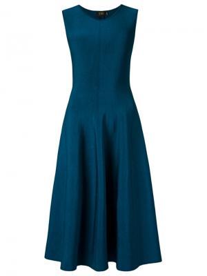 Knit flared dress Gig. Цвет: синий