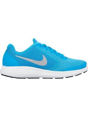 Кроссовки REVOLUTION 3 (GS) Nike. Цвет: синий, серый