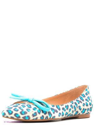 Балетки Calipso. Цвет: голубой