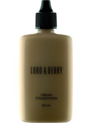 Тональная основа с естественным покрытием, оттенок 8629 Ginger Lord&Berry. Цвет: светло-коричневый