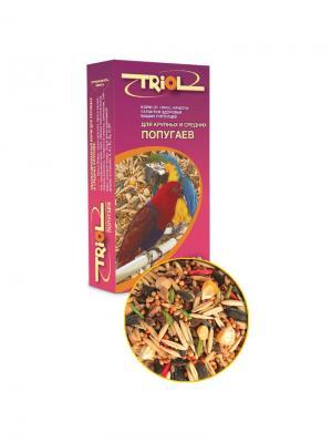 Корм для крупных и средних попугаев TRIOL. Цвет: фиолетовый